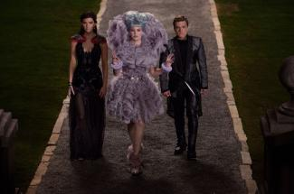 Katniss and Peeta find themselves back in the arena for a second time REX FEATURES