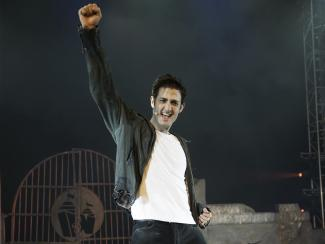 Oliver as Galileo in We Will Rock You
