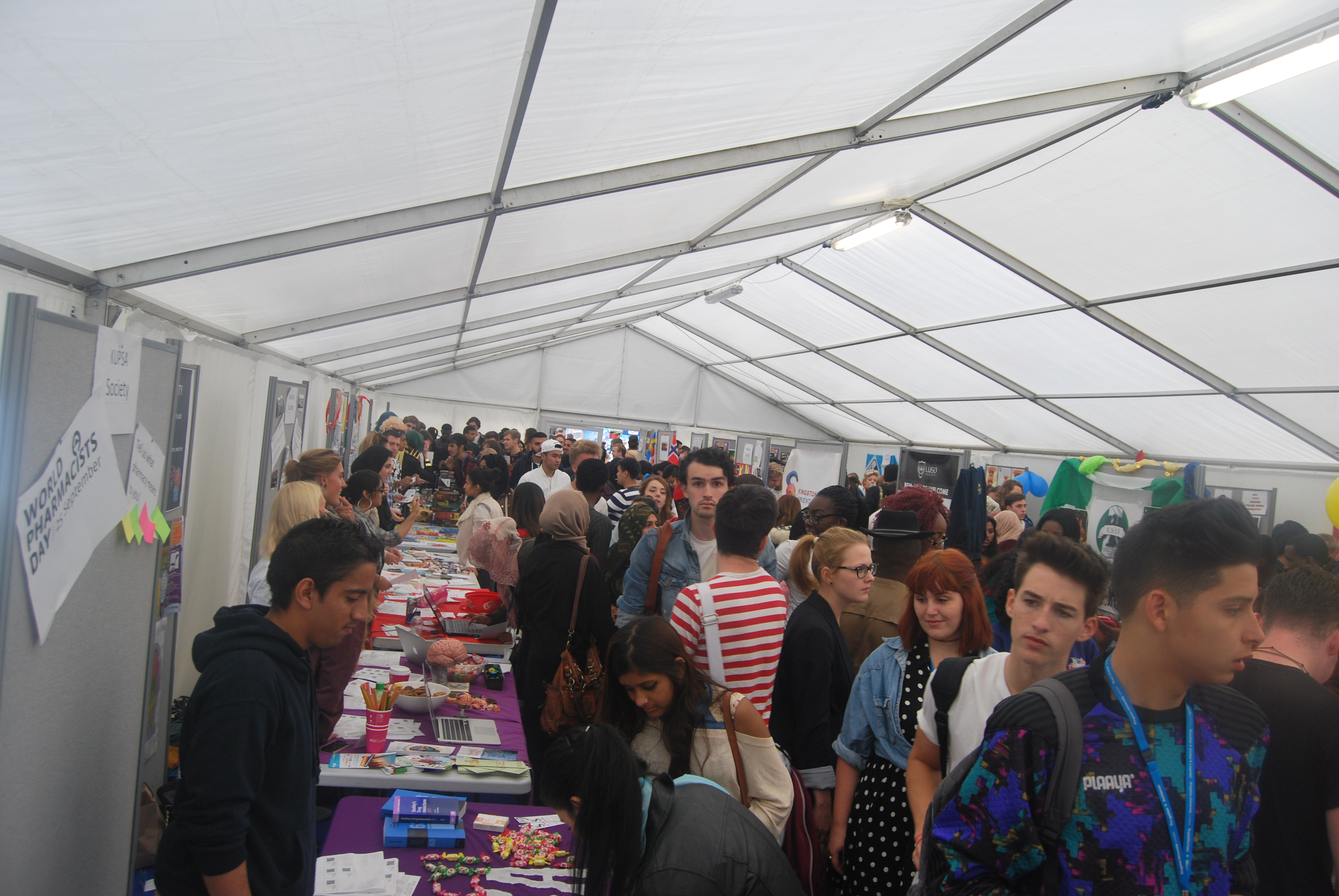 Huge crowds in the Marquee