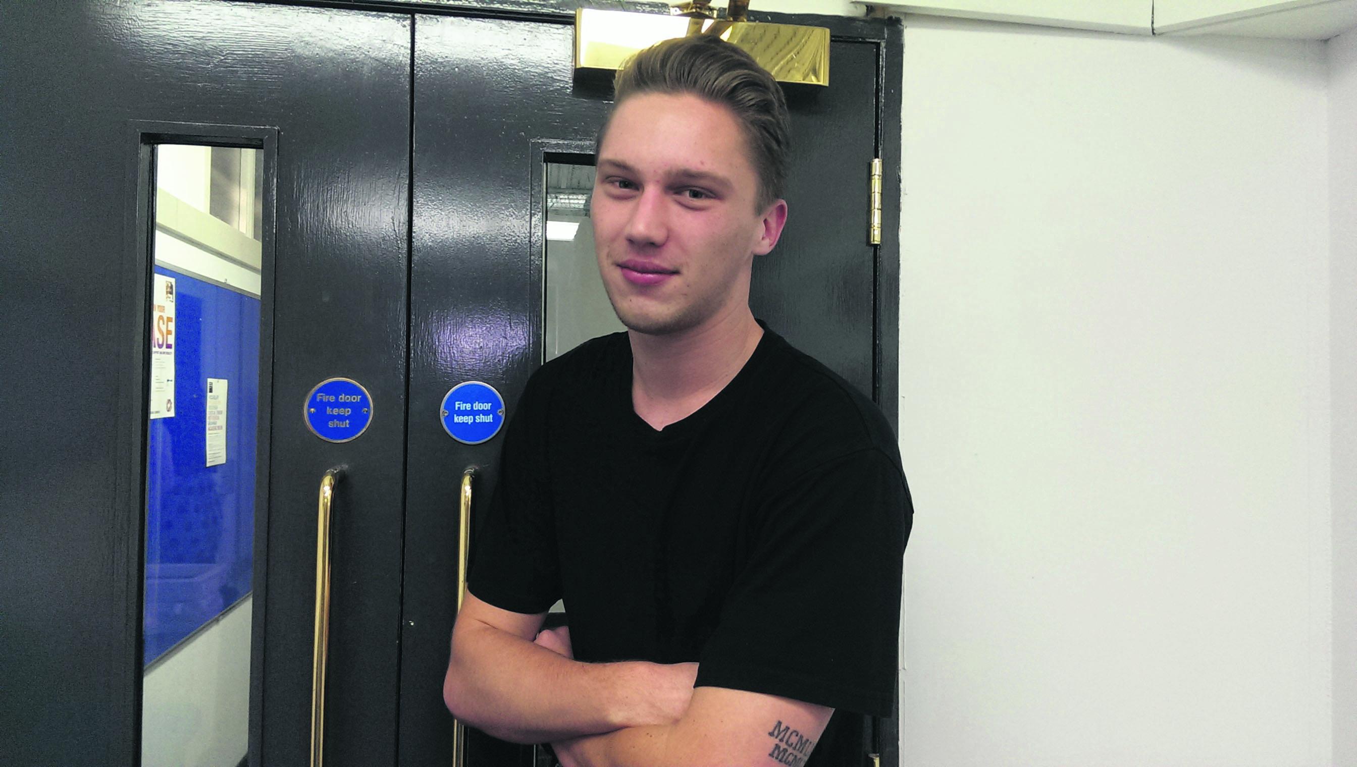 Study abroad student Joshua O'Connor