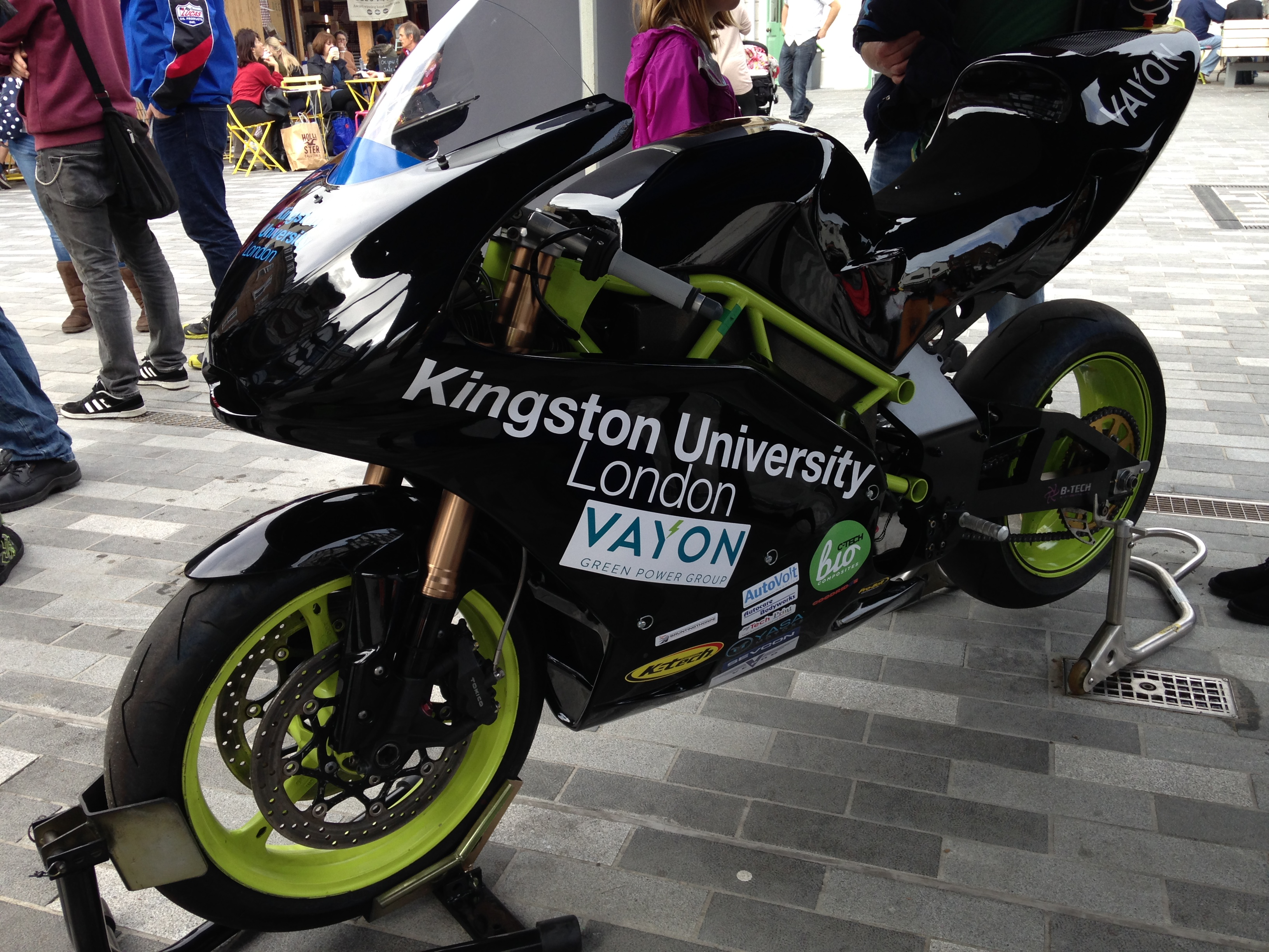 Ion Horse record breaking bike in the Market square