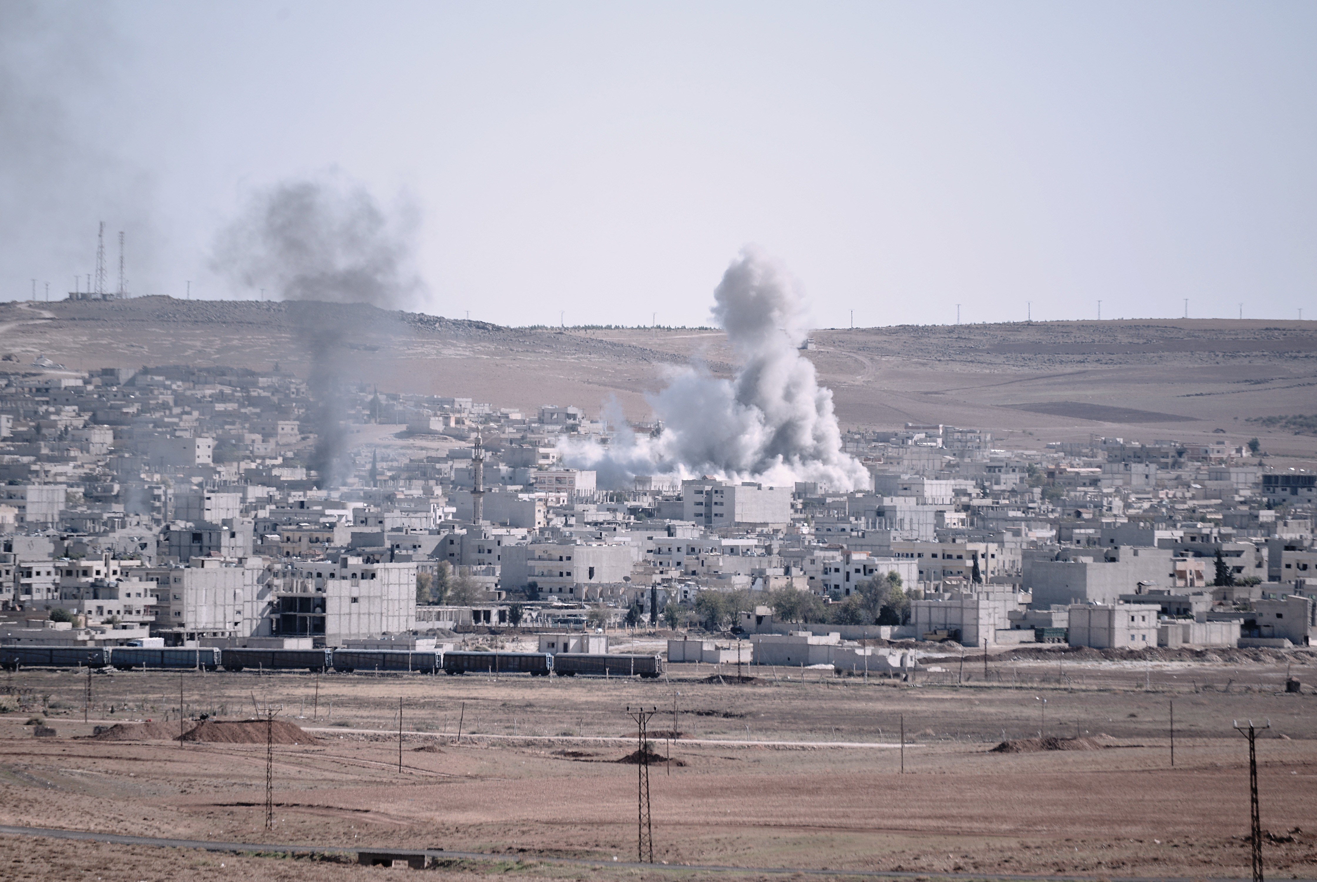 Islamic State Conflict, Kobane, Syria - 21 Oct 2014