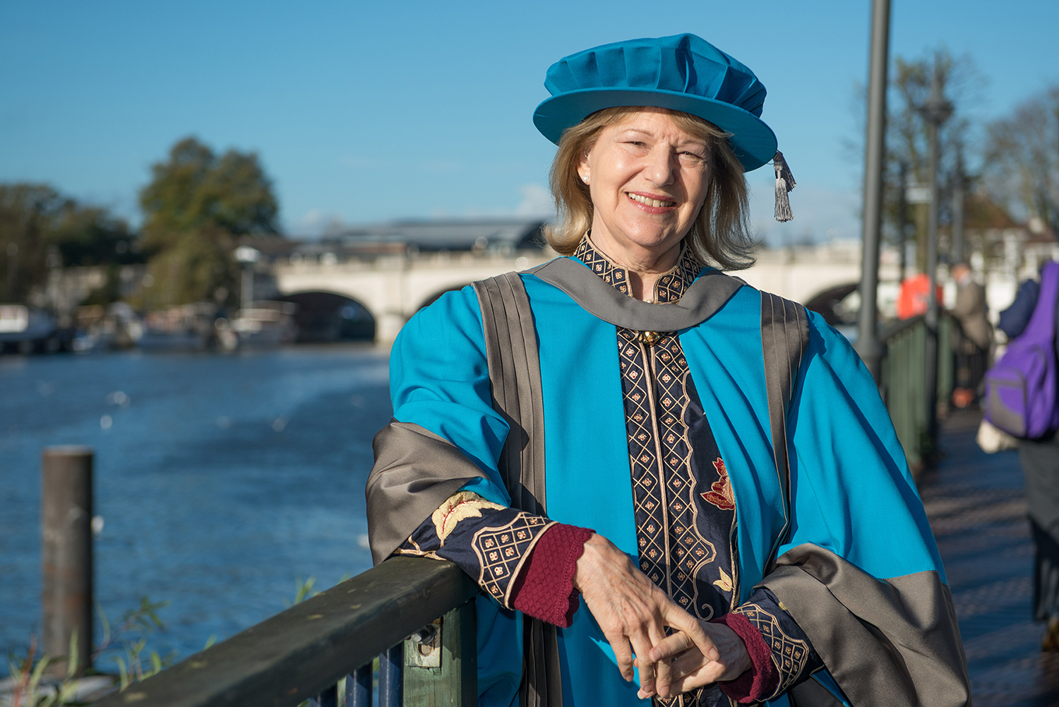 Baroness Nicholson of Wintetrbourne after accepting a Doctorate of Letters from Kingston University 12 November