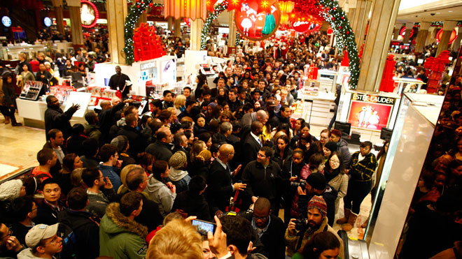Stores are expecting large crowds as Black Friday hits.
