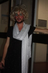 Event organiser, Matthew, put on his best frock for the occasion. Photo: Abby Ward