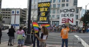Gay Pride march in Atlanta, Georgia, America - 12 Oct 2014