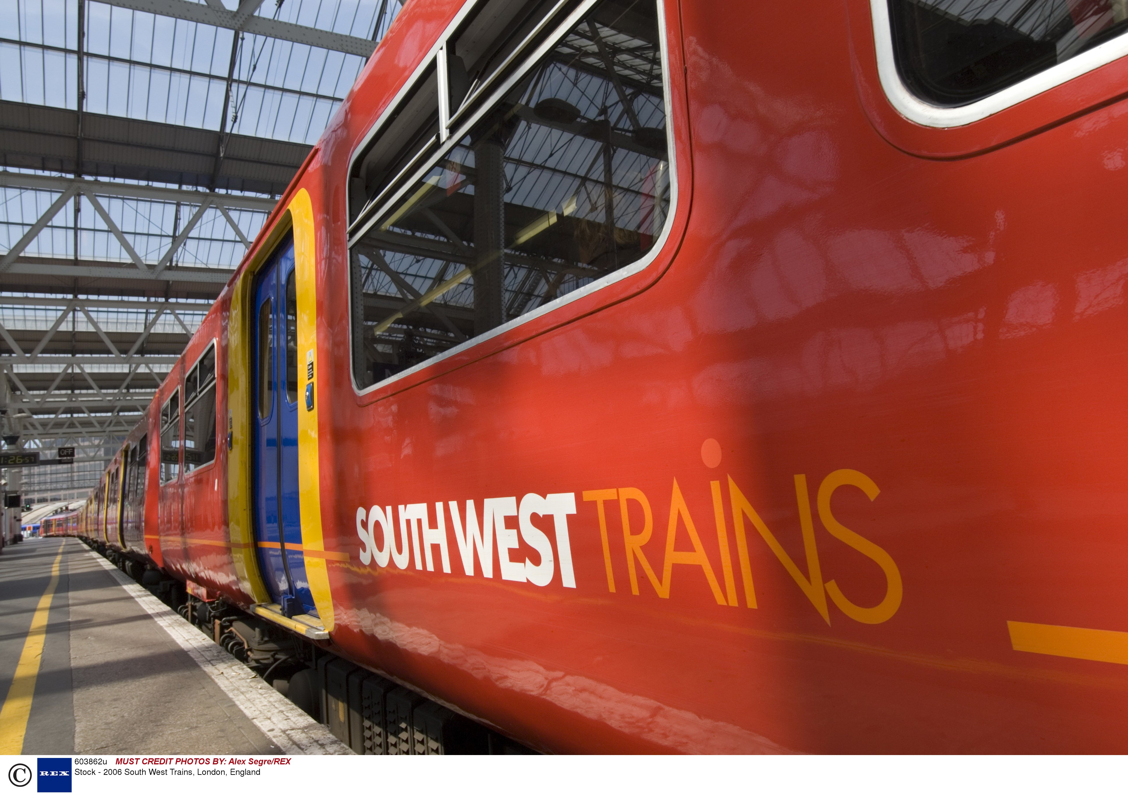 South West Trains. REX FEATURES