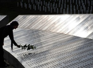 The Potocari memorial cemetery  Credit: AFP