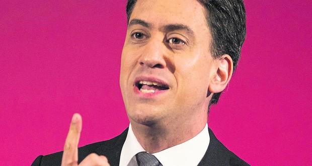 Ed Miliband.   Photo: REX