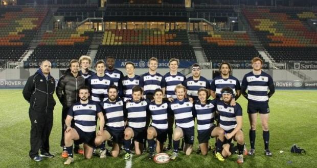 KU rugby after beating Middlesex 55-0 at Allianz Park