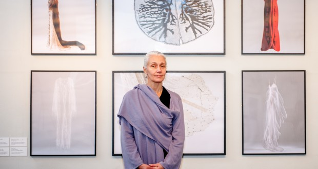 Artist and designer Helen Storey at Dorich House Museum. Photo: Ezzidin Alwan/KU Web and Multimedia Team