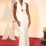 Lupita Nyong'o in custom Calvin Klein. Photo: Getty