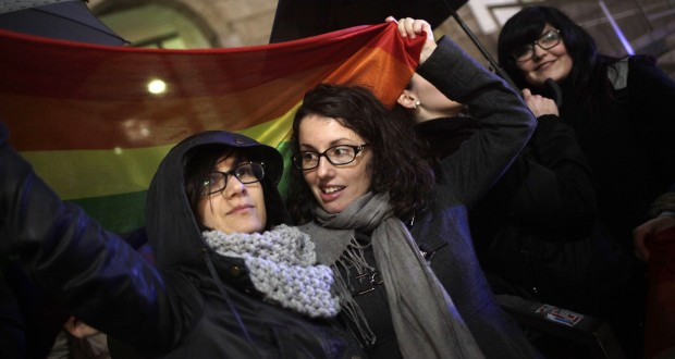 Kisses against Violence, Vigo, Spain - 30 Jan 2015