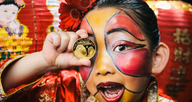 The Royal Mint unveil their new coin to celebrate the Chinese New Year 2015, Britain, Feb 2015