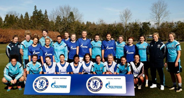 KULFC and Chelsea Ladies after their training session      - credit: Gazprom Chelsea FC