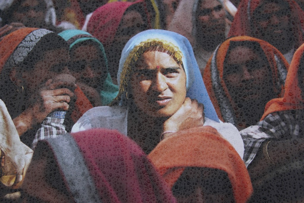 Women at a village meeting, India