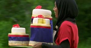 Nadiya Hussain with her winning cake