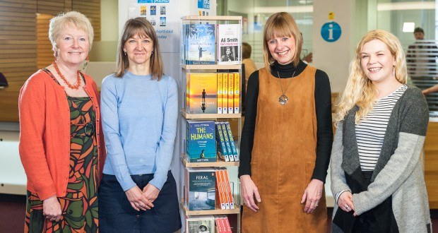 Left to right: Alison Baverstock, (Project Director); Wendy Woodley and Wendy Morris (KU Big Read Library Liaison) and Laura Bryars (Project Administrator).