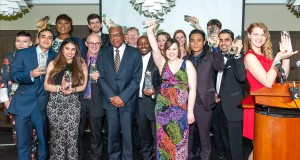 Last year's winners with Chloe Metzger in the front. Talent Awards