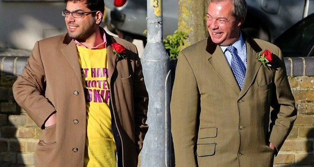 Farage and former 'right hand man' Kassam