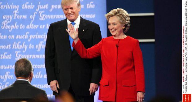 Hillary Clinton and Donald Trump Presidential Debate, Hempstead, New York, USA - September 26 2016