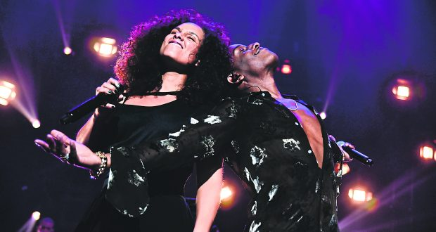 Alicia Keys and Asap Rocky passionate performance at Keep a Child Alive's 13th Annual Black Ball this October Photo credit: Rex Features