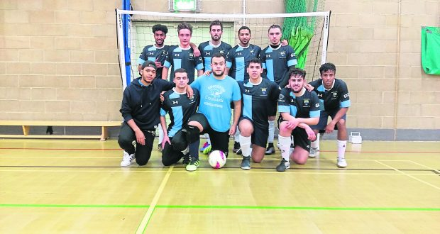 The men's futsal team after their win against Brunel