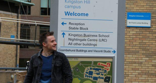 Harry Potter outside Kingston Hill campus Photo: Jamie Craker