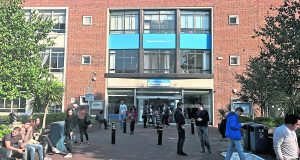 Students outside Penrhyn Road campus. Photo: Dinoshen Groshell