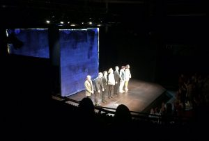 The cast of the Good Canary before taking their final bow