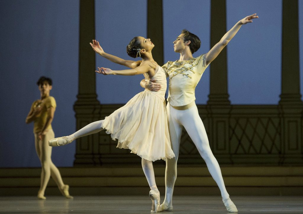 Photo by Alastair Muir/REX/Shutterstock (5577742b) James Hay and Francesca Haywar in 'Rhapsody'