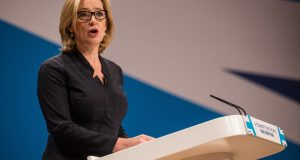 Home Secretary Amber Rudd at Conservative Party Conference earlier this month. Photo by: James Gourley/REX/Shutterstock