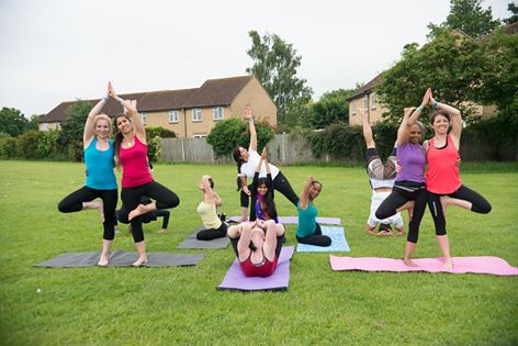 Yoga performed at Kriti Sachdiva's last Yoga & Vegan Festival in Spelthorne (June 2016)