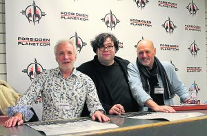 Now: John Chapman and Anthony Forrest at the signing of the documentary Elstree 1976. Middle: Director Jon Spira Photo: Johanna Christoph
