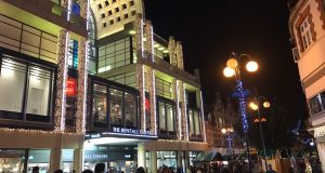 Bentalls centre lit up ready for Christmas