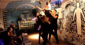 KU Drama group Dinghy performing at the fundraising event    Photo credit: Yasemin Gava