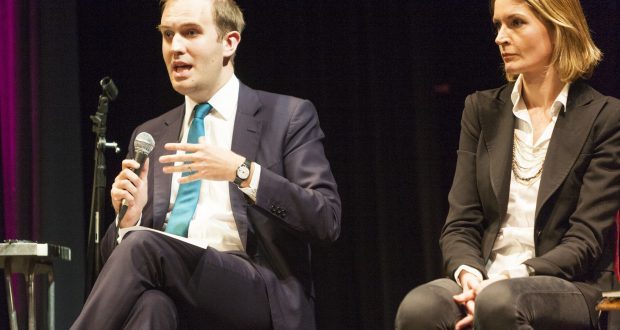 James Berry and Sophie Ward at South West London Question Time (Photo by Steve Parkins/REX/Shutterstock)