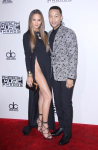 John Legend with wife Chrissy Teigen at the American Music Awards Nov 16 Photo Credit: Rex Features