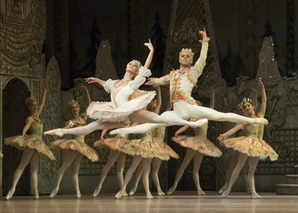 Francesca Hayward and Alexander Campbell as the Sugar Plum Fairy and her Prince. Photo: Alastair Muir/Rex Features