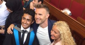 Gary Barlow surprised Anthony at his graduation. Photo Credit: Anthony Sahota