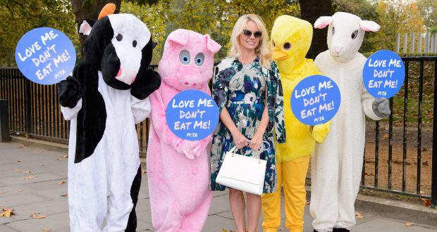 From Pamela Anderson's launch of 'Loving Vegan'. Photo Credit: Rex Features