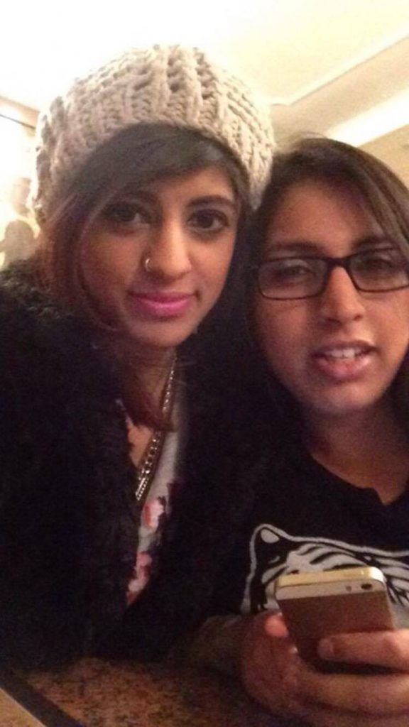 Hina Shamim (left) and her cousin Tybba Aziz (right) used to live together in Penhryn Gardens. Photo Credit: Tybba Aziz