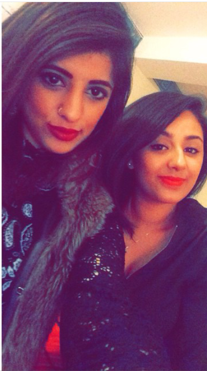 Hina Shamim (left) with her close friend Natasha Rayit. Photo Credit: Natasha Rayit
