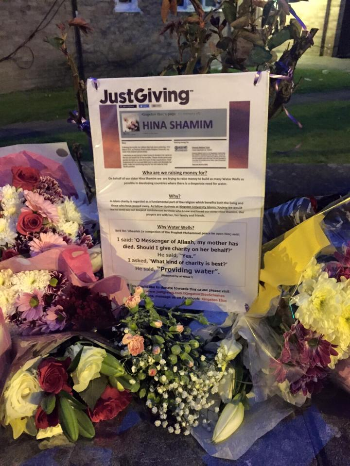 Several Justgiving charities were set up just after Hinas passing, raising more than £20,000. Photo Credit: RIP Facebook Page