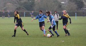 Kingston University Women's Football Team lost 2-5 to Kings College London. Photo Credit: Sunniva Knutsen