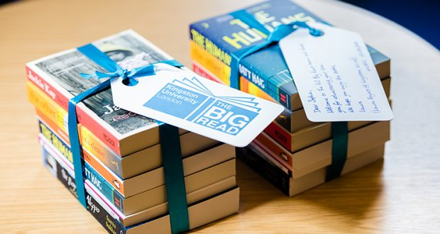 This year will mark the third year that Big Read will be handing out a carefully selected book to new students before they arrive at Kingston. Photo Credit: Kingston University