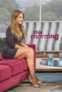 Kezia Noble on 'This Morning' TV Programme. Credit: Photo by Ken McKay.