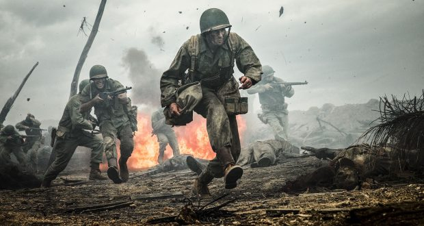 Hacksaw Ridge was nominated for multiple Oscars including Best Picture and Best Director. Photo Credit: Rex Features