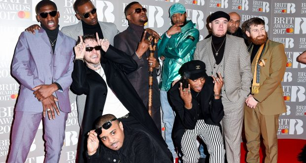Boy Better Know arrive at the Brits in style. Photo Credit: Rex Features