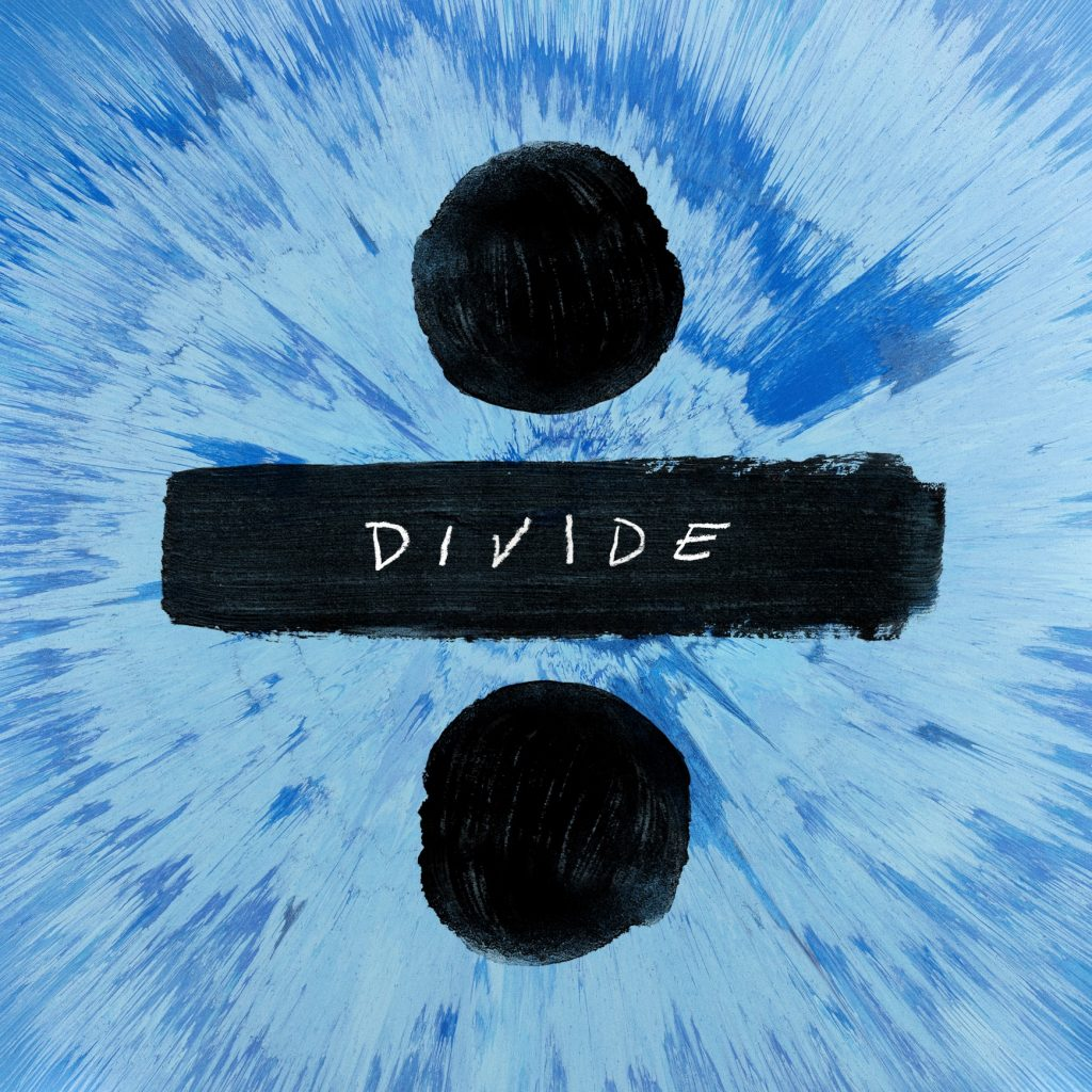 Ed Sheeran continues his use of mathematical symbols on his third record, Divide.